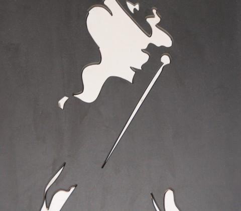 Johny Walker Logo in Tegelwerk